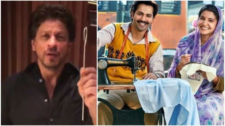 Shah Rukh Khan Accepts Varun Dhawan-Anushka Sharma's Sui Dhaaga Challenge and Smartly WINS it in Record Time! Watch Video