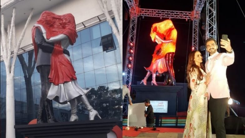 Whoa! Ekta Kapoor's Kasautii Zindagii Kay 2 Gets 23 Feet Statue Installations at Different Cities All Over India Before Going on Air – View Pics and Videos