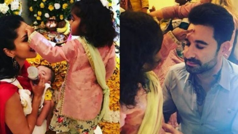 Ganesh Chaturthi 2018: Sunny Leone and Daniel Weber Welcome Bappa, Actress Posts an Emotional Message for Daughter Nisha – View Pic