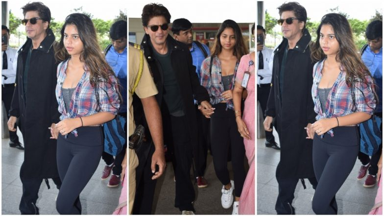 Shah Rukh Khan Escorting Suhana to the Airport Proves He's a Doting Father – See Pics