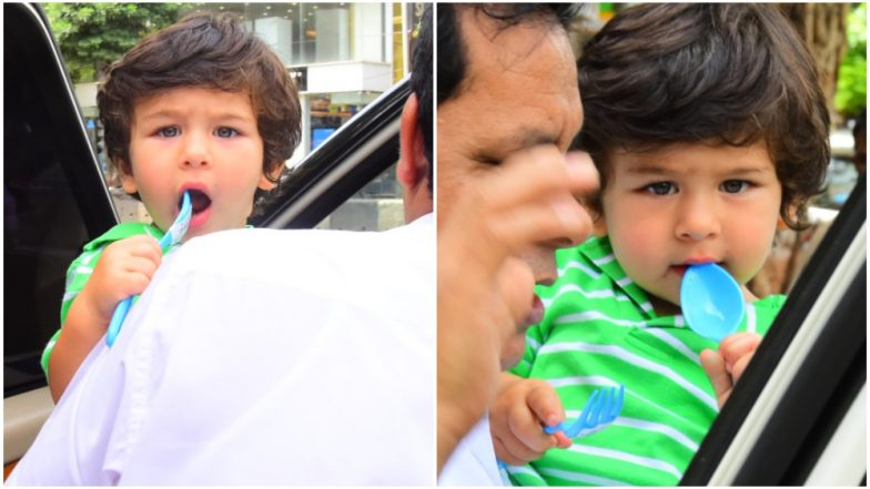 Taimur Ali Khan Looks Straight Into the Camera With His Inquisitive Eyes – See Pics