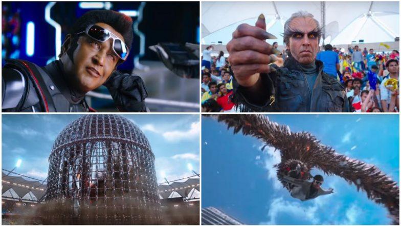 2.0 Teaser: 7 Terrific Moments in Rajinikanth-Akshay Kumar's Film Promo That Caught Our Eye - Watch Video