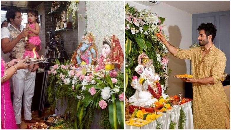Ganesh Chaturthi 2018: Karanvir Bohra, Arjun Bijlani, Karan Tacker and Other TV Celebs Welcome Bappa Into Their Home – See Pics