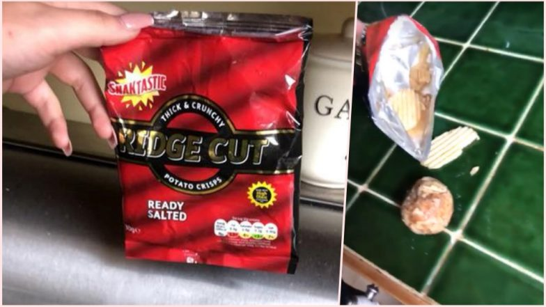 Whole Potato in a Packet of Ridge Cut Chips! Woman Amazed Shares Pic & Video on Facebook