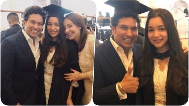 Sachin Tendulkar Puts Out an Emotional Post for Daughter Sara on the Completion of her Graduation (See Pics)