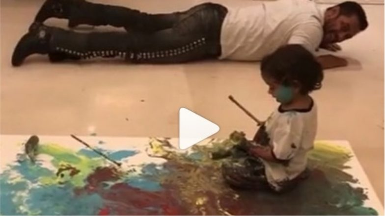 Salman Khan Teaches Ahil Sharma How to Paint and the Video Is ADORABLE!