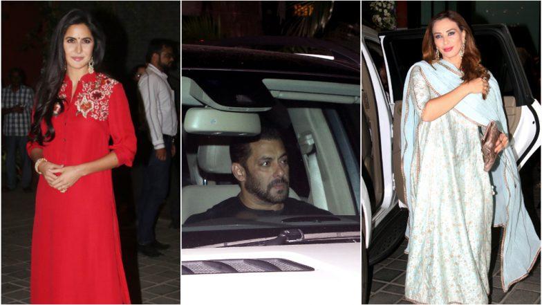 Ganesh Chaturthi 2018: Salman Khan, Katrina Kaif, Iulia Vantur Arrive at Arpita's Residence to Seek Blessings From Bappa – View Pics