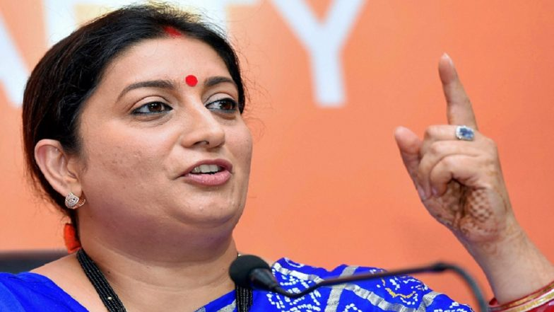 Smriti Irani Attacks Odisha Government for Depriving People of Central Schemes