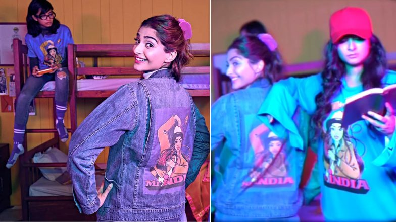 Sonam Kapoor Ahuja Wears 80s Movie Poster-Printed Outfits To Inspire The Stylist In You: Watch Video!