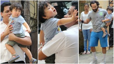 Taimur Ali Khan Hates to Say Bye to Daddy Saif and These Pictures Are Proof