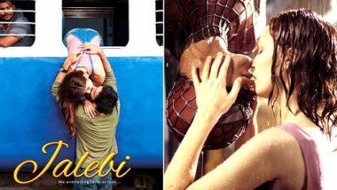 Jalebi Poster Out: Rhea Chakraborty and Varun Mitra Kiss Off The Spider-Man Way!