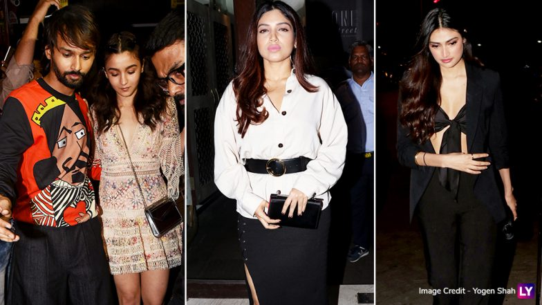 The Night That Was! Alia Bhatt Lets Her Hair Down With Athiya Shetty and Bhumi Pednekar – View Pics
