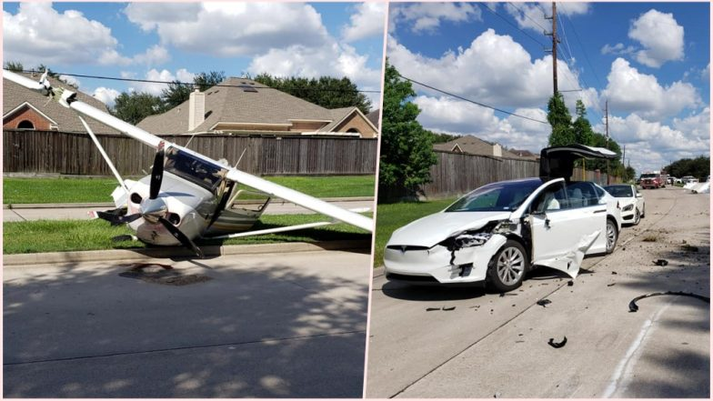 Plane Crashes Over Tesla Model X, Indian-Origin Owner Says Car 'Saved' Them! View Pics