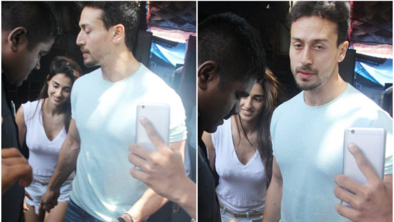 Tiger Shroff Looks Grumpy While Disha Patani Is All Smiles at Their Lunch Date! (View Pics)