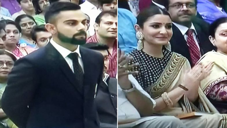 Virat Kohli Gets Khel Ratna 2018; Anushka Sharma & His Mother Accompanied the Captain at Rashtrapati Bhavan (See Pics)