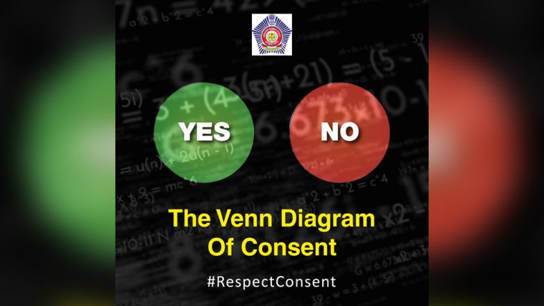 A No Means No! Mumbai Police Tweets 'The Venn Diagram of Consent'