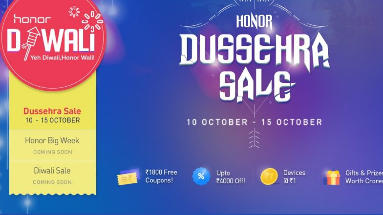 Honor Dussehra Sale: Massive Discounts & Exciting Offers on Honor 9N, Honor 7S & Other Honor Smartphones