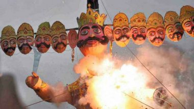 Ravan Dahan By Narendra Modi at Ramlila Maidan, Delhi, Live News Updates: PM to Set Ravana Effigy Ablaze This Evening