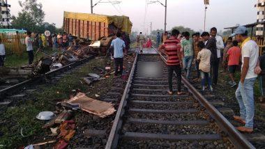 Trivandrum Rajdhani Train Truck Collision: 2 Coaches Derailed, Truck Driver Dies in Accident Between Godhra-Ratlam Crossing