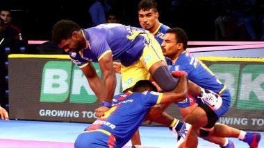 PKL 2018 Video Highlights: UP Yoddha Beat Fighting Tamil Thalaivas to Win 37-32 in Pro Kabaddi League Season 6 Match 4