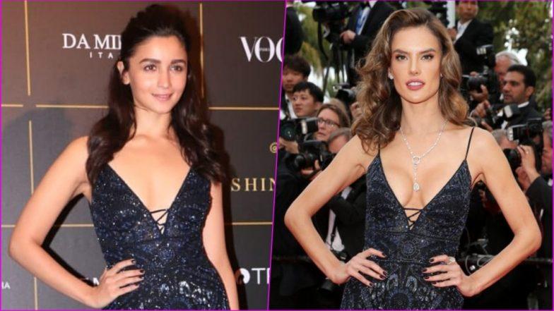 Alia Bhatt vs Alessandra Ambrosio - Who Wore Sexy Black Roberto Cavalli Gown Better? See Pics