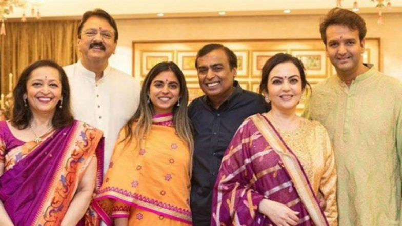 Isha Ambani-Anand Piramal Wedding Date Out: Mukesh Ambani's Daughter to Get Married on December 12, 2018