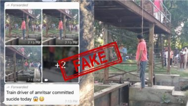 'Train Driver of Amritsar DMU Committed Suicide' Fake WhatsApp Message With Video Goes Viral