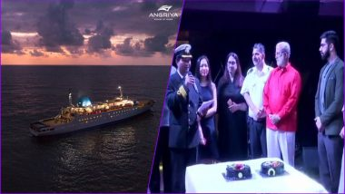 Angriya Cruise Ship Makes One More Record! Mumbai-Based Couple Says 'I Do' Onboard India's First Cruise Liner (See Pics)