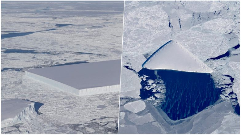 NASA Finds Perfectly Cut Rectangular and Pizza Shaped Icebergs in Antarctica View Pics