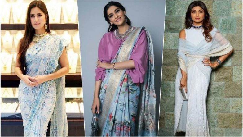 Navratri 2018 Day 8 Colour, October 17 – Sky Blue: Katrina Kaif, Shilpa Shetty & Others Who Show You How to Style the Soothing Colour of Nature