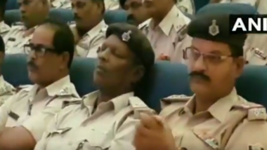 Bihar Police Officers Caught Sleeping During Law and Order Briefing for Durga Puja; Watch Video