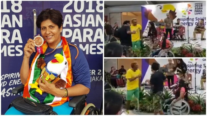 Shah Rukh Khan Mania in 2018 Asian Para Games! Deepa Malik Shares a Heart-Warming Video of Athletes Dance to SRK's Songs at Multi-Sport Event