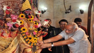 PM Narendra Modi Shares Picture With Goddess Kaali For Durga Ashtami Wish, Alert Twitterati Quick To Point Out