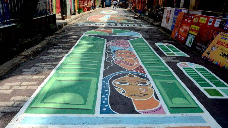 Durga Puja Street Graffiti Narrates Sex Workers' Tale