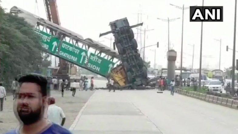 Mumbai: FOB Near Vashi Police Naka Collapses, Brief Traffic Snarl Enroute Mankhurd