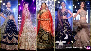 Bridal Lehenga Designs 2018: Karisma Kapoor, Radhika Apte, Fatima Sana Shaikh & Other Showstoppers at The Wedding Junction Show