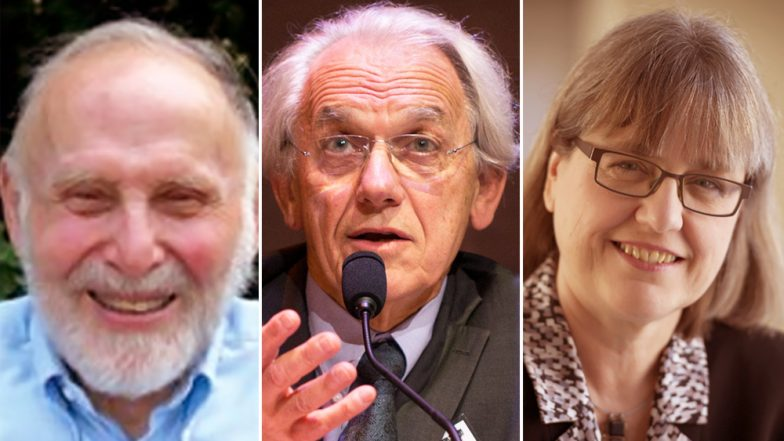 Arthur Ashkin, Gerard Mourou and Donna Strickland, Winners of Nobel Prize for Physics 2018 | (Photo Credits: File Image via www.latestly.com)