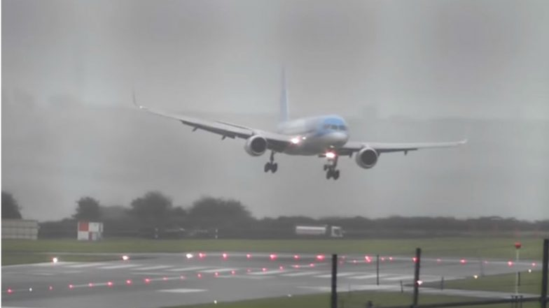 TUI Airways Pilot Executes Marvellous Sideways Landing In Stiff Crosswind at Bristol Airport, Watch Viral Video