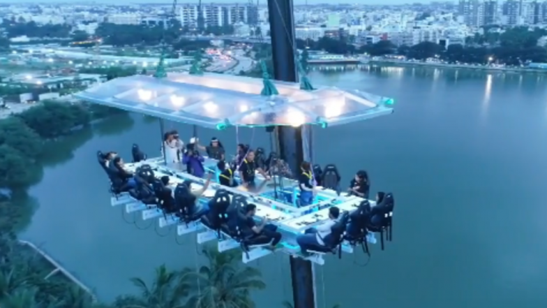 Bengaluru S Newest Attraction Dine 160 Feet Above At India First Fly Dining Restaurant Watch