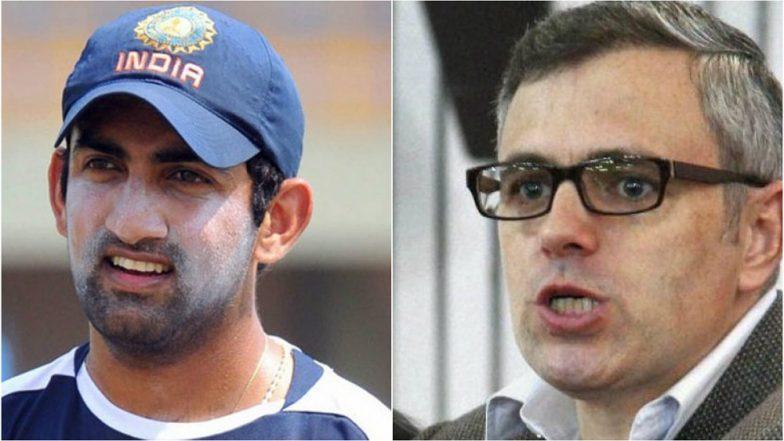 Omar Abdullah Hits Back at Gautam Gambhir For Tweet on Slain Kashmiri Terrorist Mannan Wani