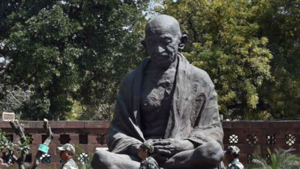 Miscreants Damage Mahatma Gandhi's Statue in Rajasthan's Ajmer