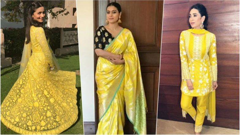 Navratri 2018 Day 2 Colour, October 11 - Yellow: From Alia Bhatt to Kajol, Take Cue on How to Shine Bright This Navdurga Festival