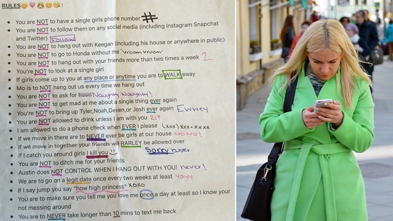 Girlfriend's List of 22 Rules for Her Boyfriend Goes Viral, People Tell Him to Dump Her!