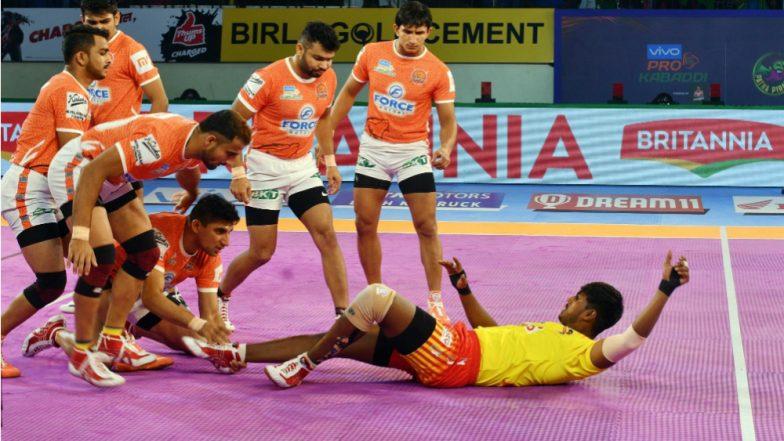 Puneri Paltan vs Gujarat Fortunegiants, PKL 2018–19 Match Video Highlights: Gujarat Beat Pune by 37–27; Continue Their Excellent Form