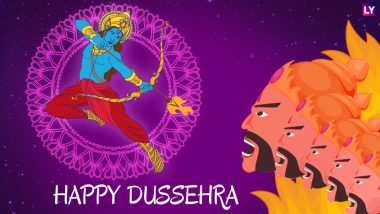 Dussehra 2018 Wishes and Dasara HD Images: Best WhatsApp Messages & Status, SMS, GIFs and Facebook Cover Photos to Send Happy Dussehra Greetings!