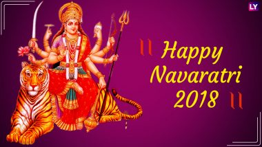Navratri 2018 Wishes and Photo Greetings: WhatsApp Messages, GIF Images, Jai Mata Di Facebook Status, Quotes & SMSes to Wish Happy Navaratri