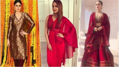 Karwa Chauth 2018 Style: Take Inspiration from These Bollywood Actresses on How to Rock Red Outfits This Karva Chauth