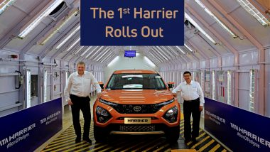 Tata Harrier Rolls Out 1st Production Vehicle From Pune Plant: Watch Pics & Video of New Tata SUV