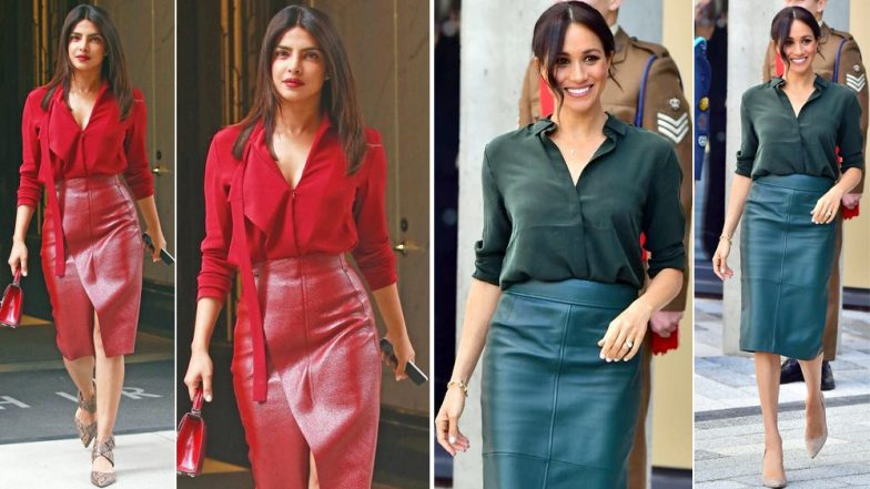 Priyanka Chopra or Meghan Markle – Who Do You Think Nailed This Outfit Better?