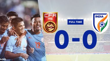 India vs China Football Friendlies 2018 Result: India Hold China in International Friendly Game